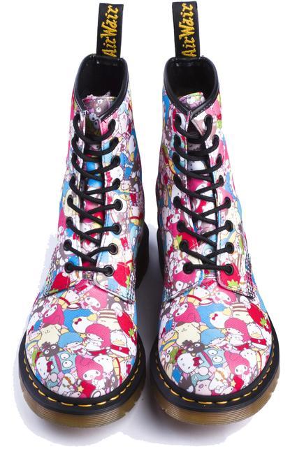 vegan sanrio doc marten boots