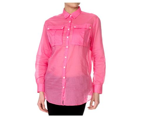 WOMENS VOILE LONGLINE SHIRT