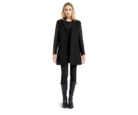 WOMEN'S STUDDED OVERCOAT