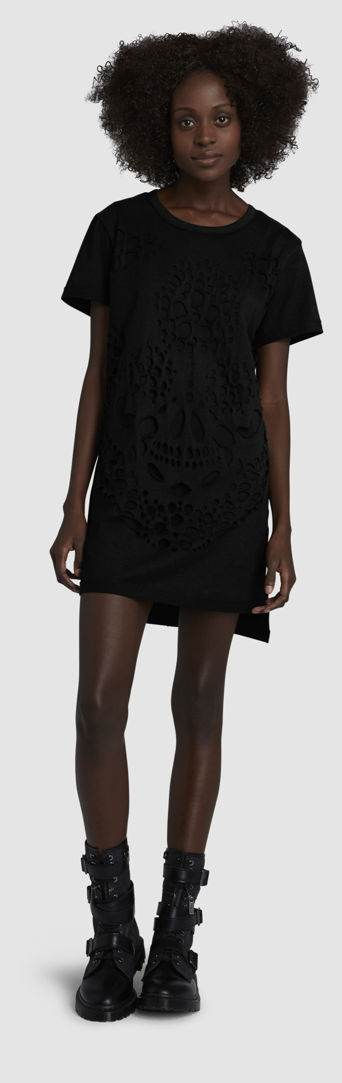 WOMEN'S SKULLS T-SHIRT DRESS