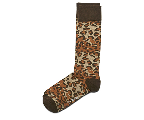LEOPARD PRINT  SHORT SOCK