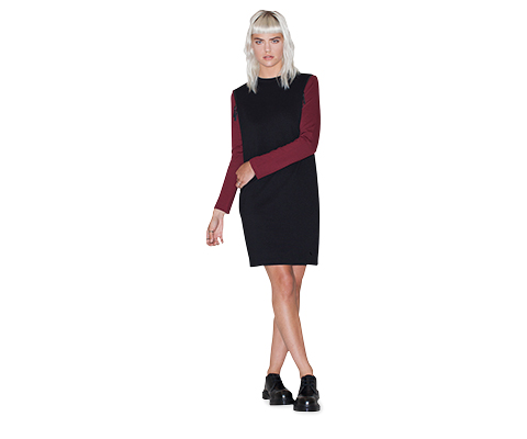 WOMEN'S SLASH SHOULDER DRESS